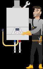 Стандартный монтаж конденсационного газового котла до 35kW