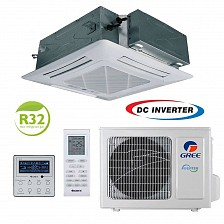 Conditioner de tip caseta inverter Gree U-MATCH GUD50T/A-T+GUD50W/HhA-X 18000 BTU