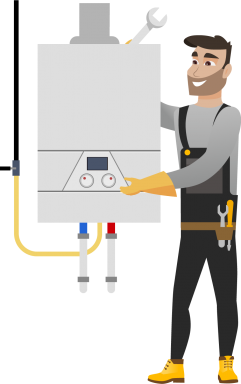Instalarea Standard a unui cazan pe gaz cu condensare de pina la 28kW