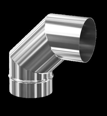 d. 200 Угол дымоходный 90° (inox 304)