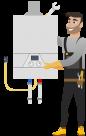 Стандартный монтаж газового котла до 32kW