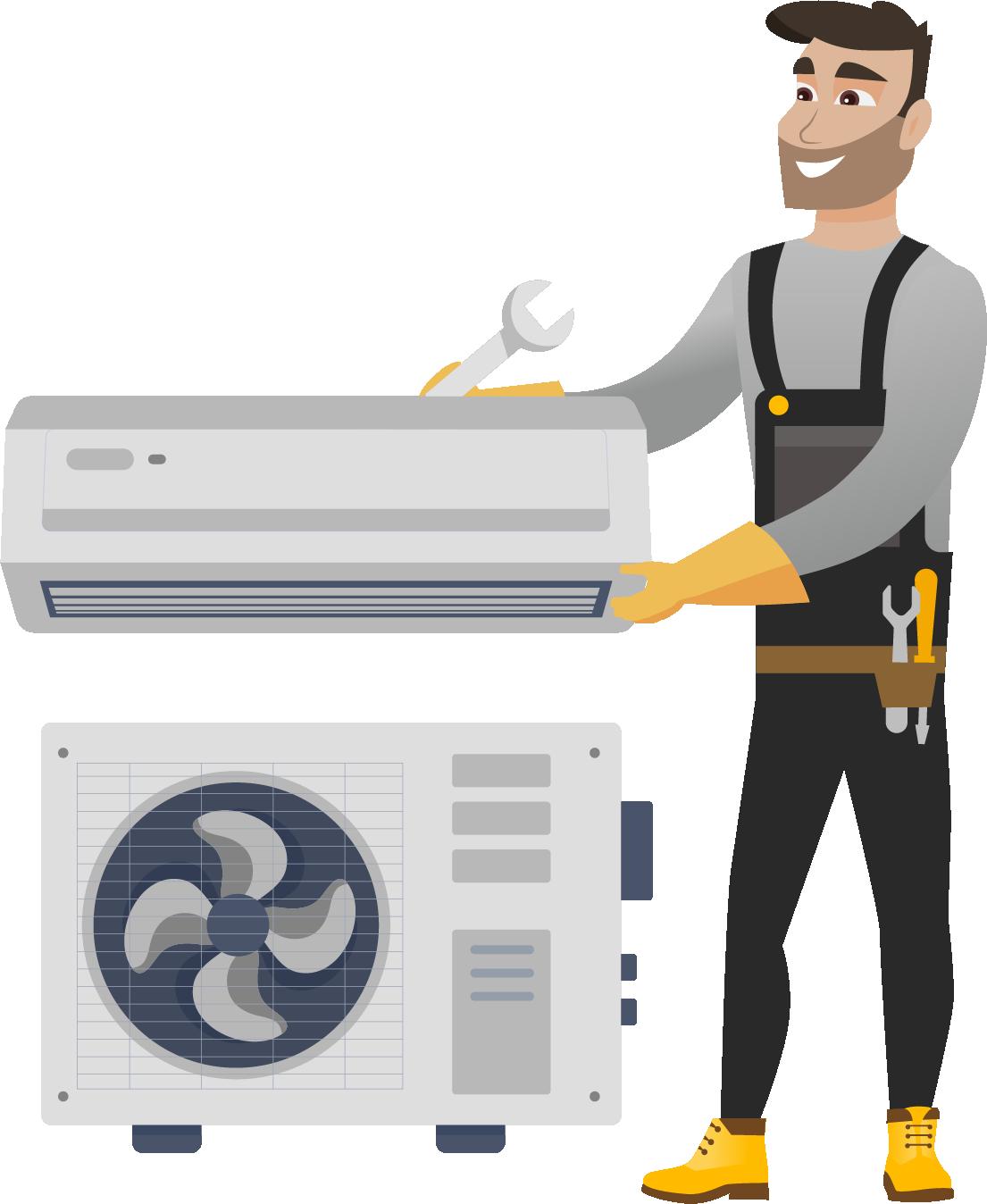 Instalarea Standard a aparatului de aer conditionat 28000 BTU (de la 7,2 la 8 kW)